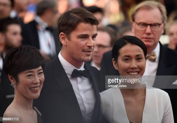 Shinobu Terajima Josh Hartnett and Atsuko Hirayanagi attend the 'The Killing Of A Sacred Deer' screening during the 70th annual Cannes Film Festival...