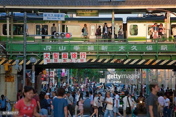 Shin-Okubo Railway Station in Tokyo, Japan
