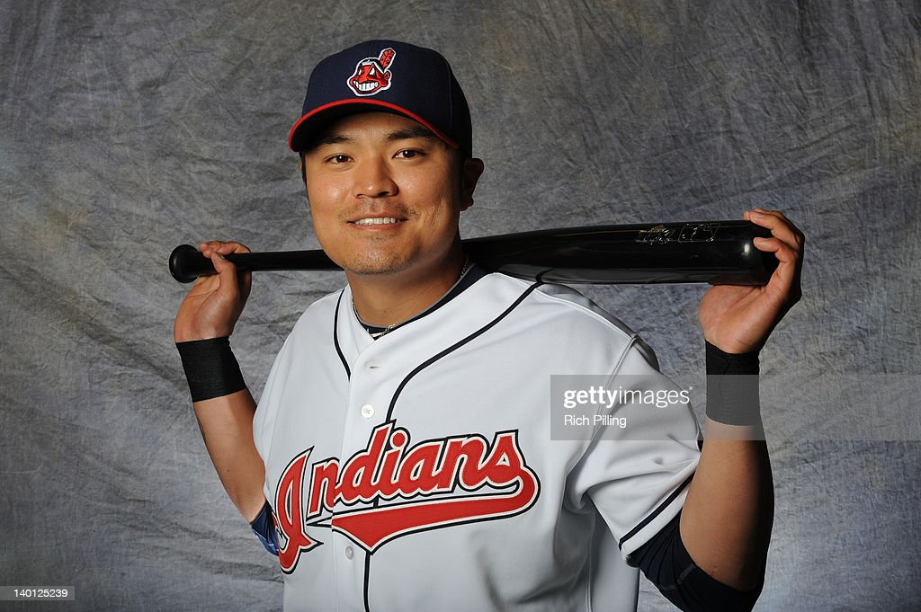 Shin-soo Choo #17 of the Cleveland Indians poses for a portrait during a photo day at Goodyear Ballpark on February 28, 2012 in Goodyear, Arizona.
