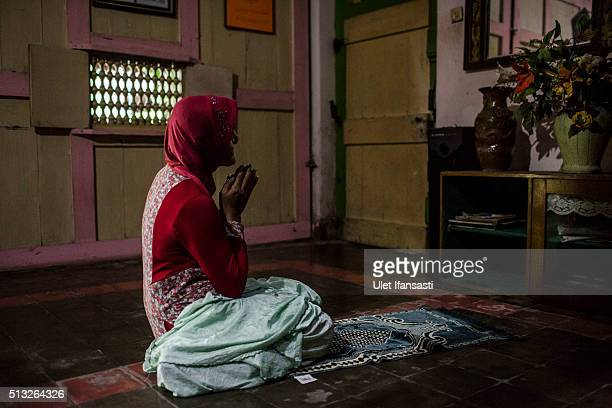 Shinta Ratri a leader of a Islamic school for transgender AlFatah known as 'waria' prays at her house who is also previously a place for a Islamic...