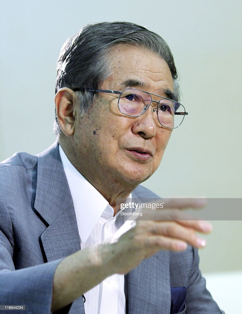 <a gi-track='captionPersonalityLinkClicked' href=/galleries/search?phrase=Shintaro+Ishihara&family=editorial&specificpeople=665335 ng-click='$event.stopPropagation()'>Shintaro Ishihara</a>, governor of Tokyo, speaks during an interview in Tokyo, Japan, on Friday, July 15, 2011. Ishihara criticized Prime Minister Naoto Kan's vow to reduce dependency on atomic energy after the Fukushima disaster, saying instead the country should deepen its nuclear embrace to include weapons. Photographer: Haruyoshi Yamaguchi/Bloomberg via Getty Images