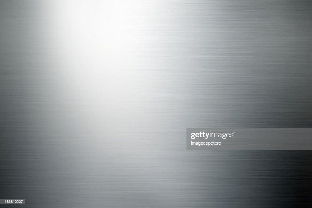 shiny brushed metal background : Stock Photo
