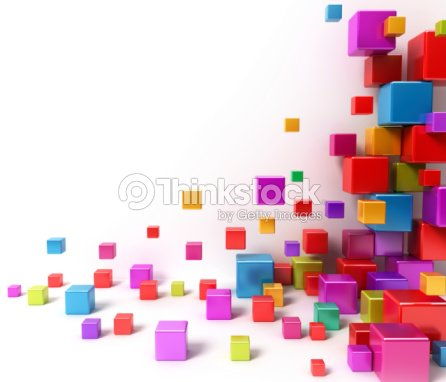 Shiny colorful boxes. Abstract background : Stock Photo