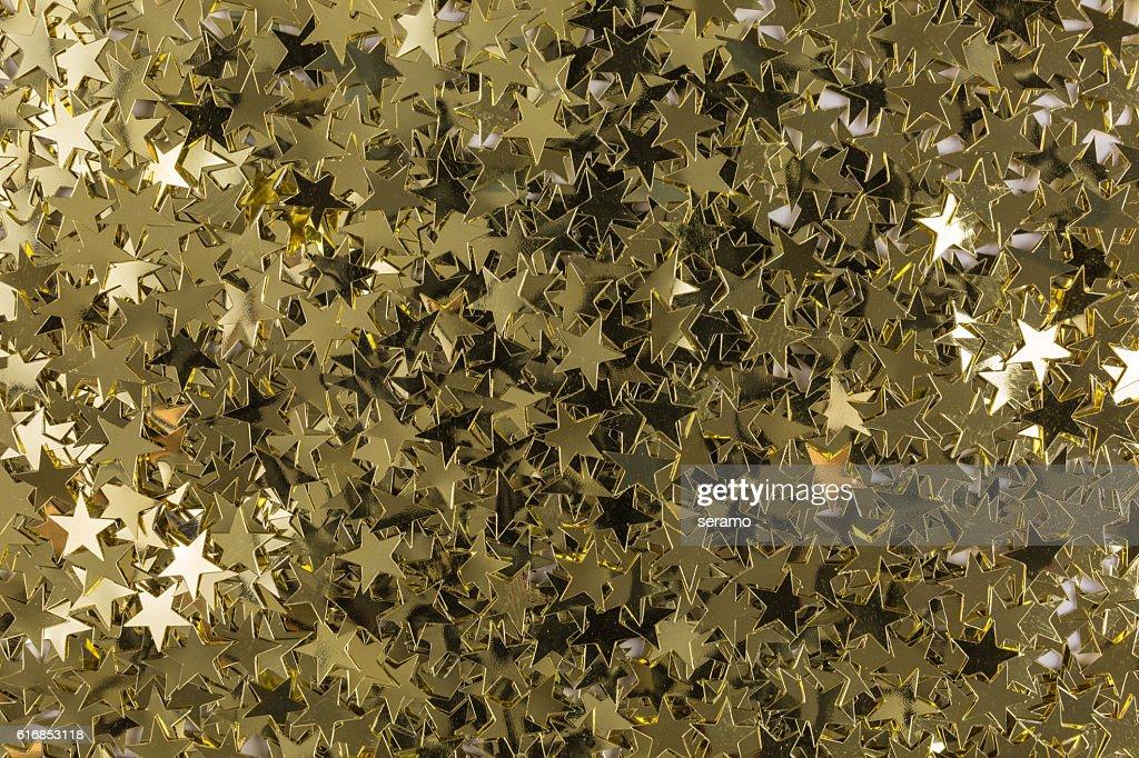 shiny golden sequins : Stock Photo