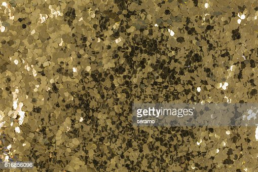 shiny golden sequins : Stock Photo