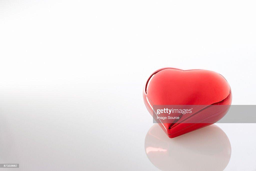 Shiny red heart : Stock Photo