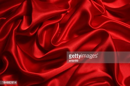 Shiny red satin background texture