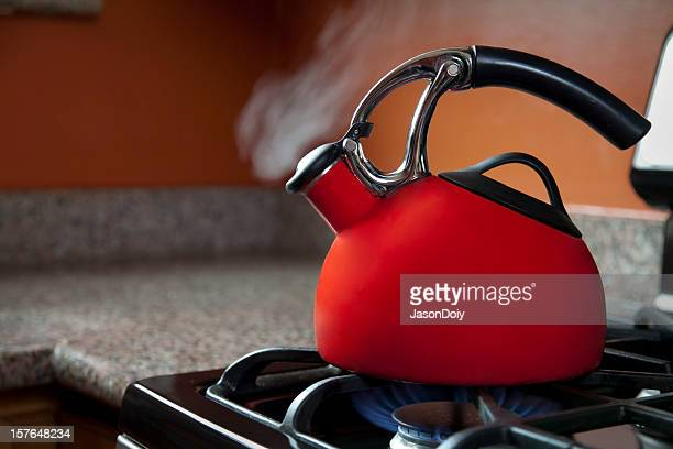Shiny Red Tea Pot