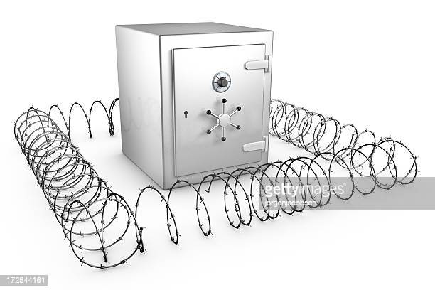 Shiny Safe with barb wire