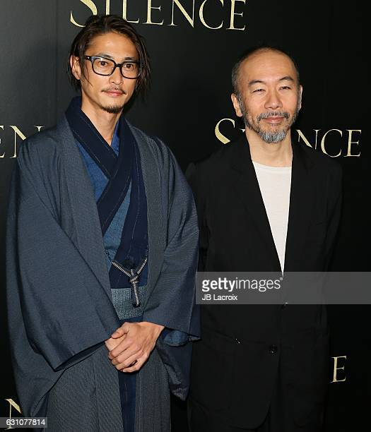 Shinya Tsukamoto and Yosuke Kubozuka attend the premiere of Paramount Pictures' 'Silence' on January 5 2017 in Los Angeles California
