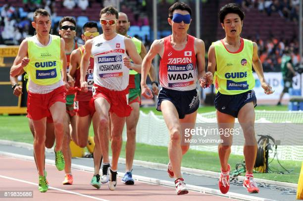 Shinya Wada of Japan competes in the Men's 1500m T11 round 1 during Day Five of the IPC World ParaAthletics Championships 2017 London at London...