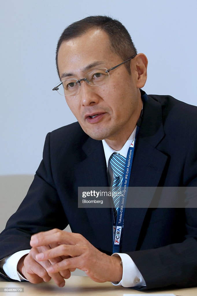 <a gi-track='captionPersonalityLinkClicked' href=/galleries/search?phrase=Shinya+Yamanaka&family=editorial&specificpeople=4810477 ng-click='$event.stopPropagation()'>Shinya Yamanaka</a>, director of the Center for iPS Cell Research and Application (CiRA) and Nobel laureate, speaks during an interview at Takeda Pharmaceutical Co.'s Shonan Research Center in Fujisawa, Kanagawa Prefecture, Japan, on Tuesday, Dec. 15, 2015. Under a ten-year, $170 million pact, Takeda will partner with Yamanaka's center to study ways to use cell technologies for conditions such as diabetes and cancer. Photographer: Yuriko Nakao/Bloomberg via Getty Images