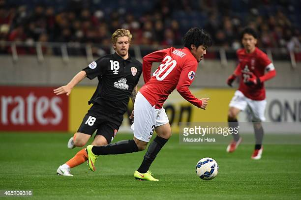 Shinzo Koroki of Urawa Red Diamonds in action during the AFC Champions League Group G match between Urawa Red Diamonds and Brisbane Roar at Saitama...