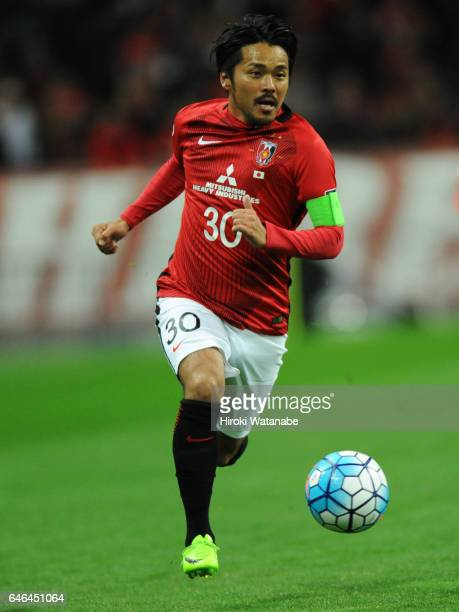 Shinzo Koroki of Urawa Red Diamonds in action during the AFC Champions League match Group F match between Urawa Red Diamonds and FC Seoul at Saitama...