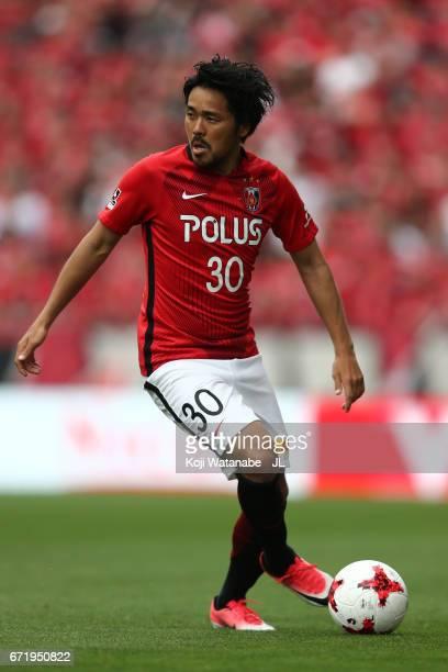 Shinzo Koroki of Urawa Red Diamonds in action during the JLeague J1 match between Urawa Red Diamonds and Consadole Sapporo at Saitama Stadium on...
