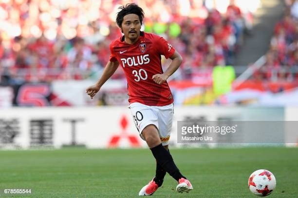 Shinzo Koroki of Urawa Red Diamonds in action during the JLeague J1 match between Urawa Red Diamonds and Kashima Antlers at Saitama Stadium on May 4...