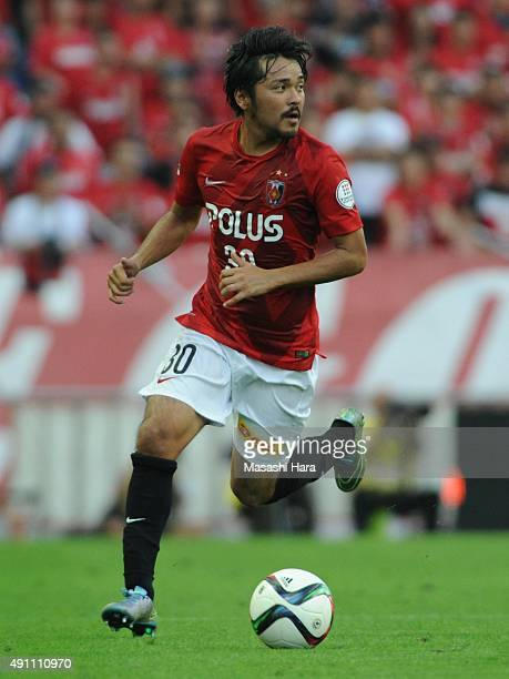 Shinzo Koroki of Urawa Red Diamonds in action during the JLeague match between Urawa Red Diamonds and Sagan Tosu at Saitama Stadium 2002 on October 3...
