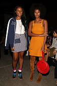 Shiona Turini and singer Solange Knowles attend the Zimmermann fashion show during Spring 2016 New York Fashion Week at Art Beam on September 11 2015...