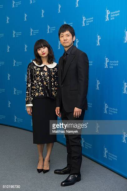 Shiori Kutsuna and Hidetoshi Nishiima attend the 'While the Women Are Sleeping' photo call during the 66th Berlinale International Film Festival...