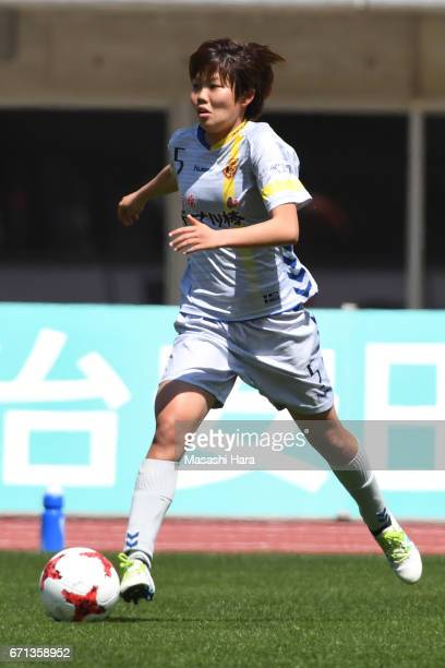 Shiori Miyake of INAC Kobe Leonessa in action during the Nadeshiko League match between Albirex Niigata Ladies and INAC Kobe Leonessa at Denka Big...