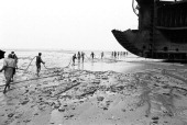 Ship breaking area in Shitakundo Chittagong Bangladesh