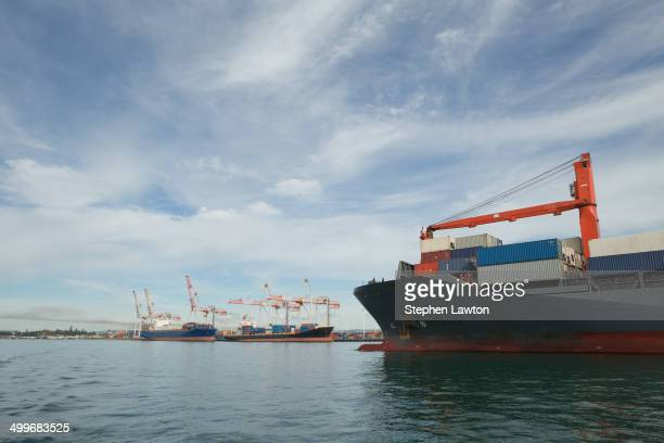 CONTENT] A ship enters and prepares for berthing at Port Tauranga