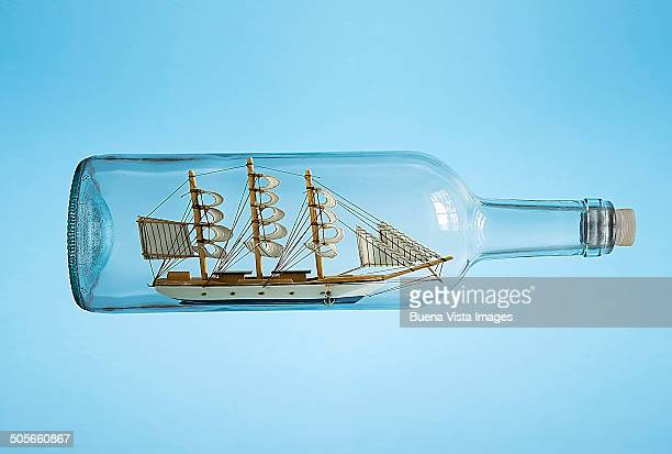A ship in a bottle.