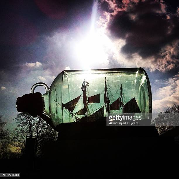 Ship In Bottle Against Sky