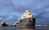 Ship in Karnaphuli river Chittagong Bangladesh July 1 2012