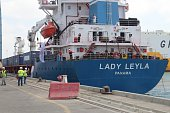 Ship named 'Lady Leyla' arrives at port of Ashdod as Turkish government sends Humanitarian aid to Gaza after TurkishIsraeli reconciliation deal in...