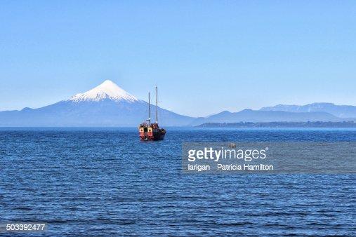 Ship on Lake Llanquihue