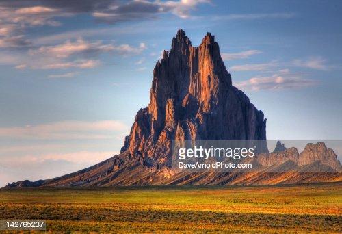 Ship rock mountain at sunset : Stock Photo