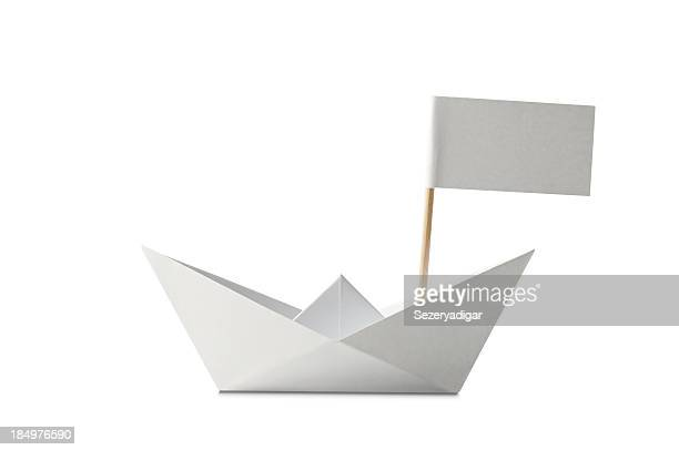 Ship with Flag