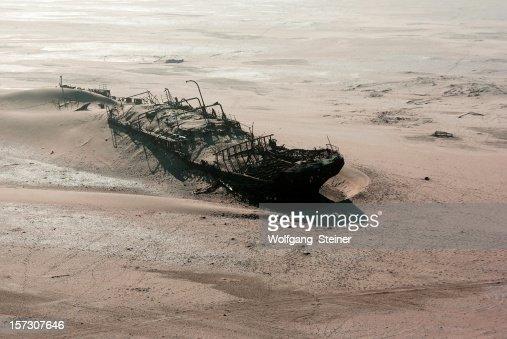 Ship wreck on skeleton coast