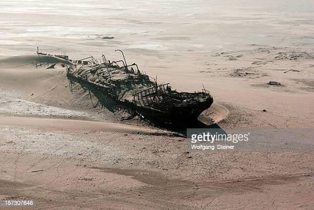 Ship wreck on skeleton coast