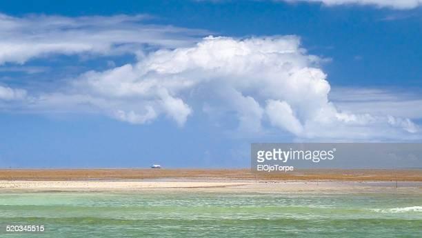 Ship/boat on a reef near Porto Seguro, Brazil