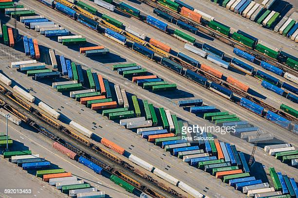 Shipping containers, aerial view