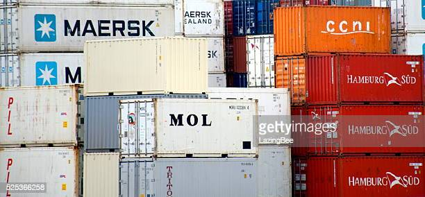 Shipping Containers at Ports of Auckland Limited (POAL), New Zealand