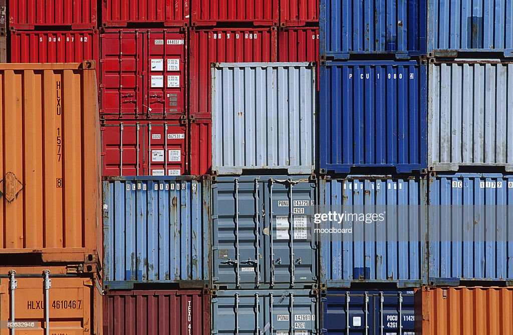 Shipping Container Storage Yard Part - 37: Shipping Containers In Storage Yard : Stock Photo
