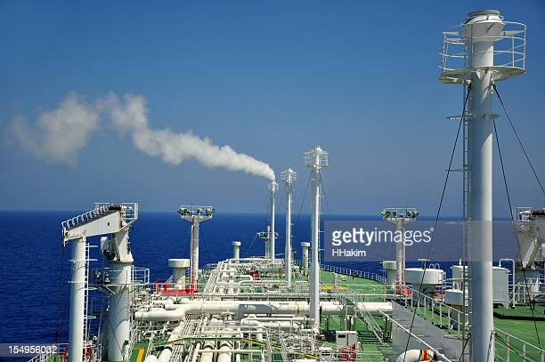Shipping industry - LNG Tanker (venting methane gas)
