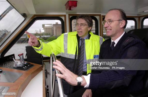 Shipping Minister Keith Hill chats with Paul Wilson at the wheel of a Thames pleasure boat on London's River Thames The Government outlined its...