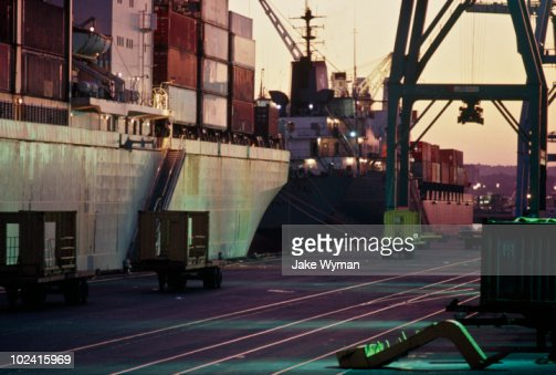 Shipping Terminal, Newark, NJ : Stock Photo