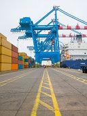 Shipping yard traffic lanes