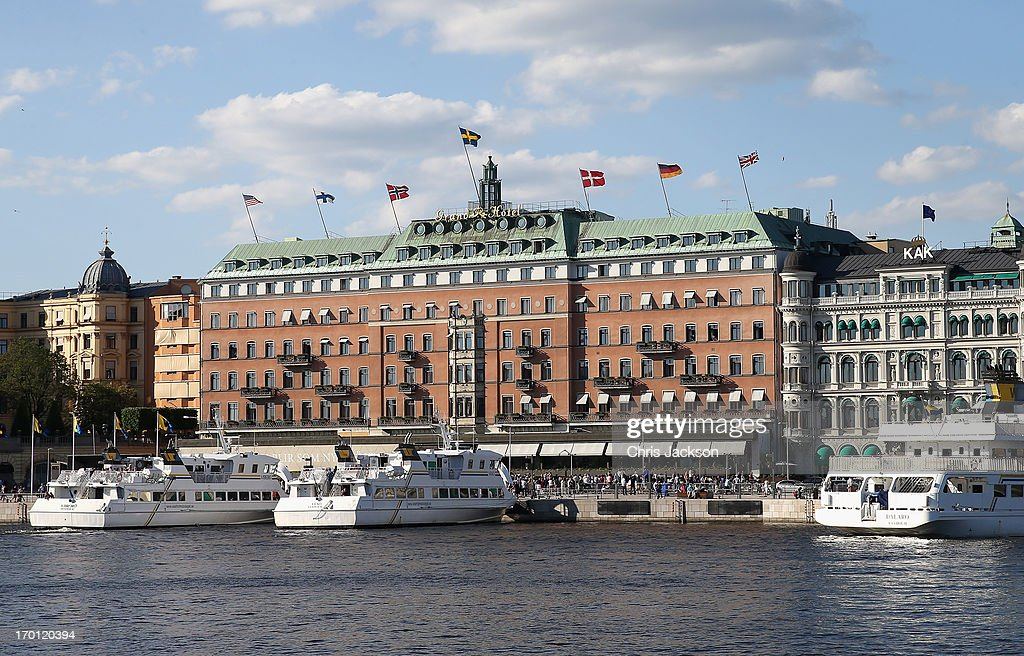 Ships are docked at the Grand Hotel where celebrations are taking place on the eve of the wedding of Princess Madeleine of Sweden and Christopher O'Neill on June 7, 2013 in Stockholm, Sweden.