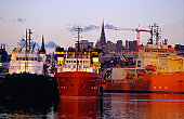 Ships at the Aberdeen Docks from Pocra Quay.