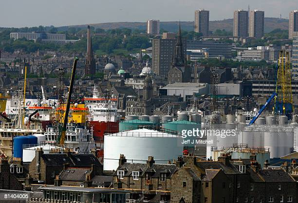 Ships dock in Aberdeen harbour June 4 2008 in Aberdeen Scotland Recent rises in oil prices is bringing more financial wealth to the city's oil...