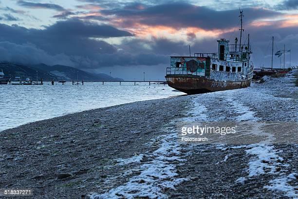 Ships in Ushuaia harbor, Argentina
