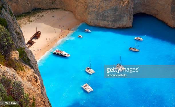 Shipwreck Beach On Zakynthos