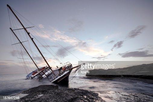Shipwreck off the coast of Malta