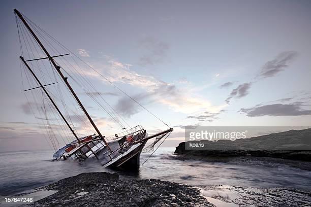 Shipwreck fuera de la costa de Malta